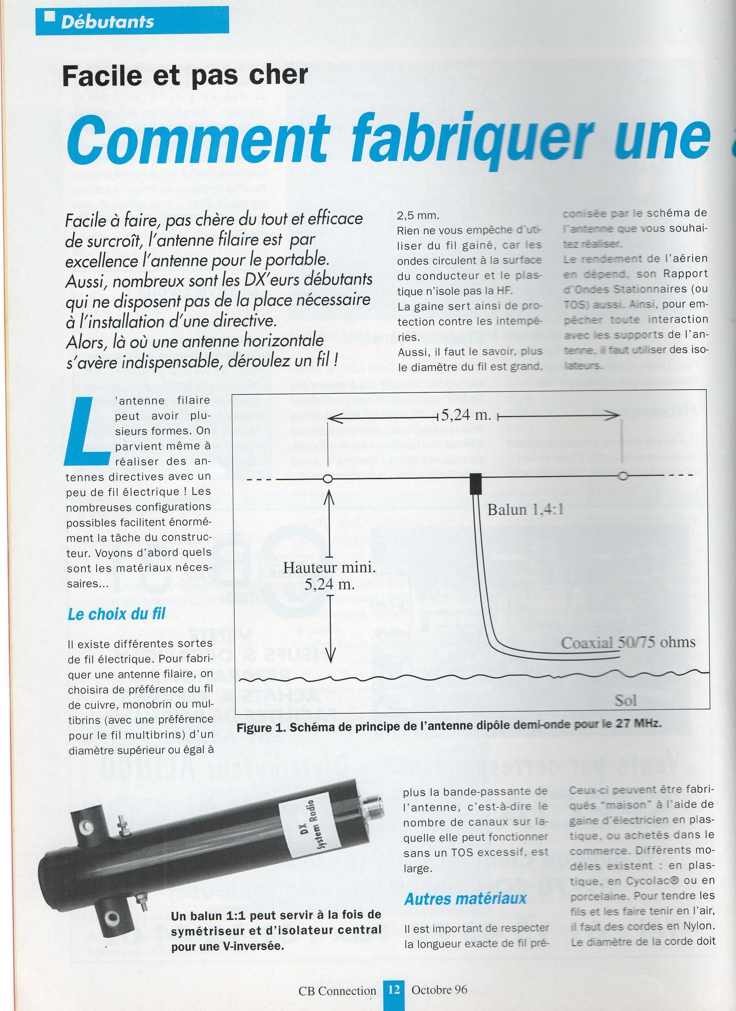 Comment fabriquer une antenne cibi