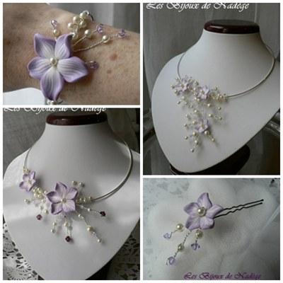 bijoux mariage fleurs artisanaux sur mesure