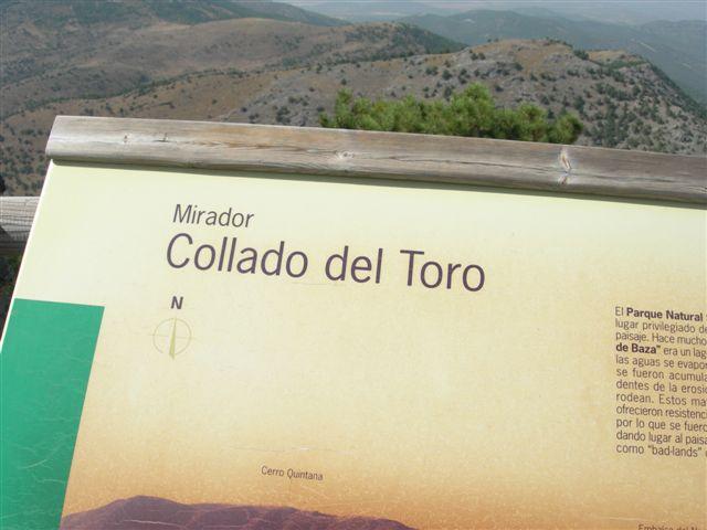 Table d'orientation du Collado del Toro