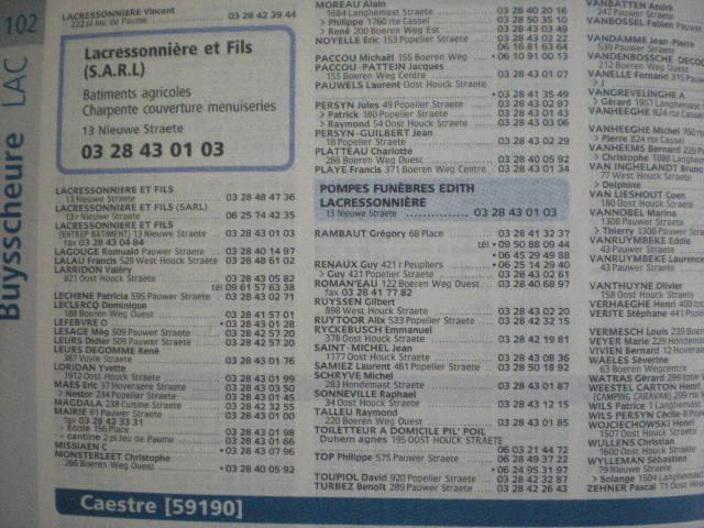 Telefoonboek van de Franse Westhoek 100910090650970736726002