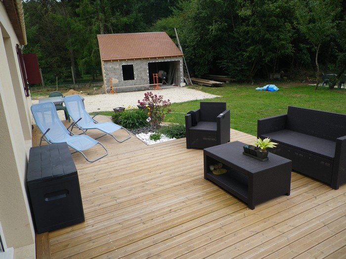 Best Table De Jardin En Bois Brico Contemporary - Amazing House ...