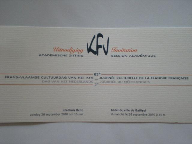 Het KFV : Komitee voor Frans-Vlaanderen 100914030802970736748142
