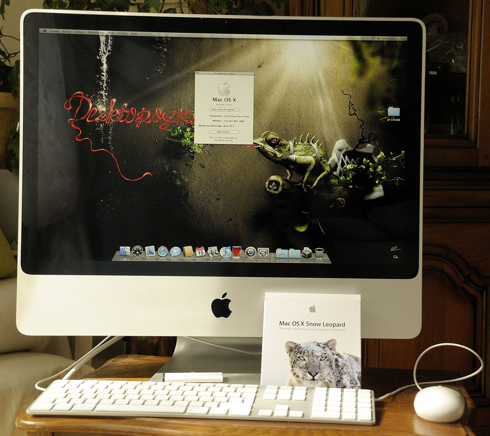 imac 24 pouces vds pc portables achats ventes. Black Bedroom Furniture Sets. Home Design Ideas