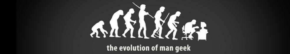 Evolution of man geek