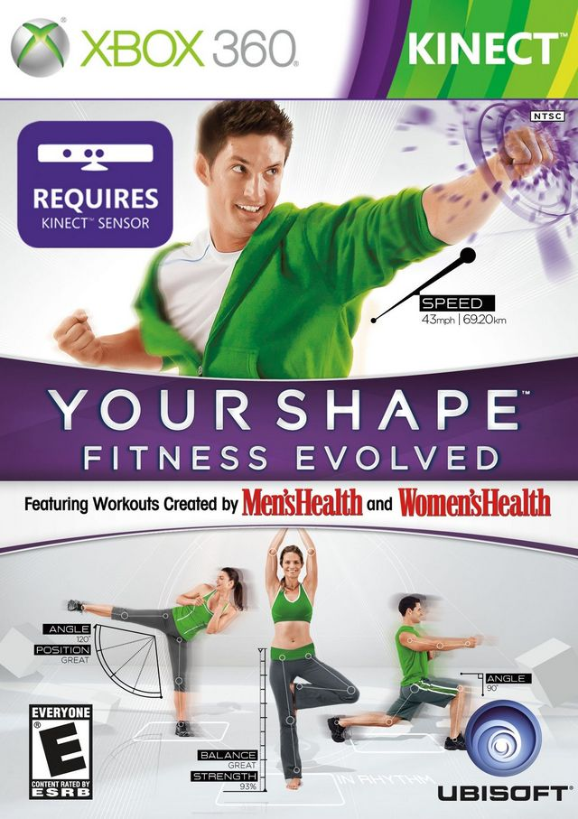 Capa your shape fitness evolved 2012 kinect xbox 360