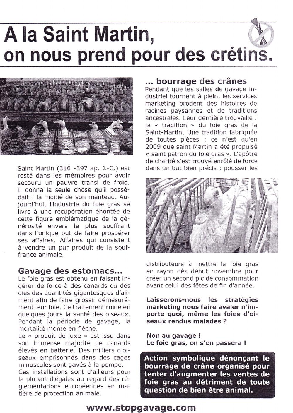 Abolition du foie gras 11/11/2010 Paris : compte-rendu 101111040630853867097077
