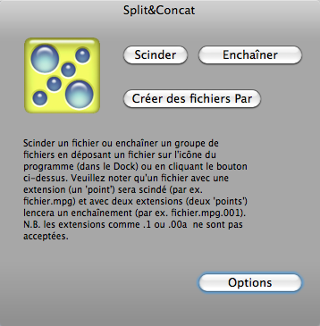 Scinder et ré-assembler un fichier avec Split & Concat 1011200515351200807152381
